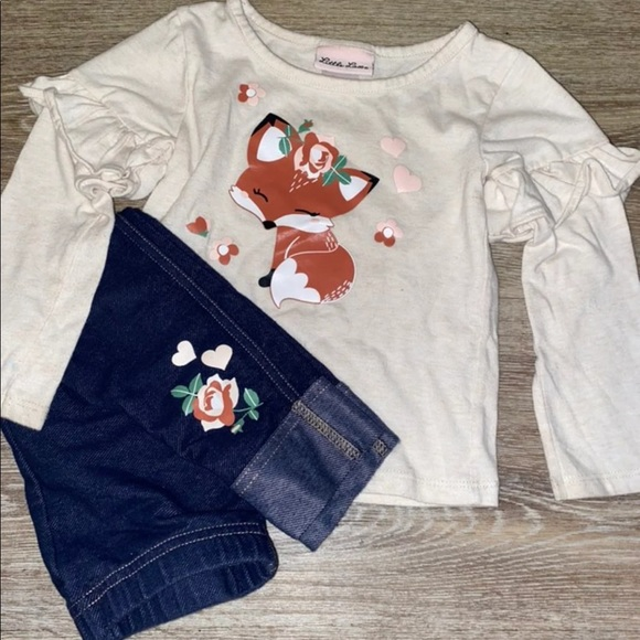 Little Lass Fox Outfit size 2T